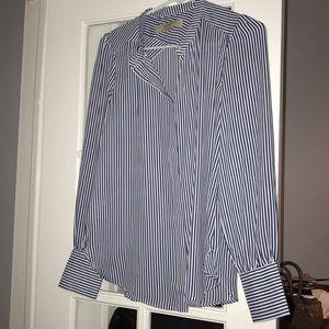 LOFT silky striped blouse XS